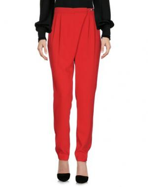 Повседневные брюки BIANCOGHIACCIO. Цвет: красный