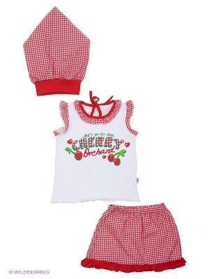 Комплект одежды Апрель. Цвет: красный, белый
