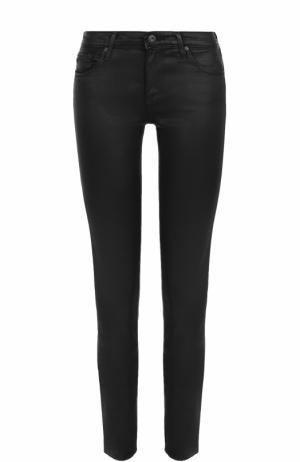 Однотонные джинсы-скинни Ag. Цвет: черный