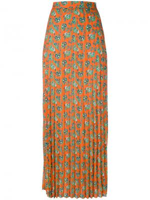 Длинная плиссированная юбка House Of Holland. Цвет: многоцветный
