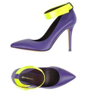 Туфли BRUNO MAGLI. Цвет: фиолетовый