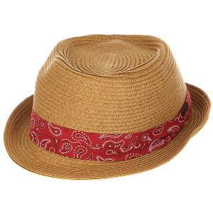 Шляпа  Radcliffe Fedora Natural Globe. Цвет: коричневый
