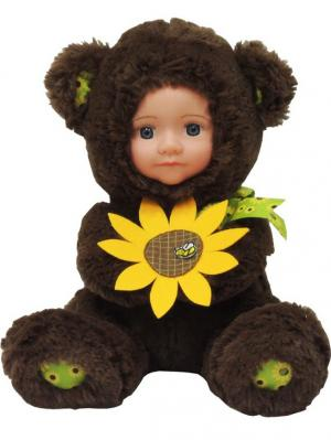 Кукла Anna De Wailly Медвежонок с цветочком 20см Склад Уникальных Товаров. Цвет: коричневый