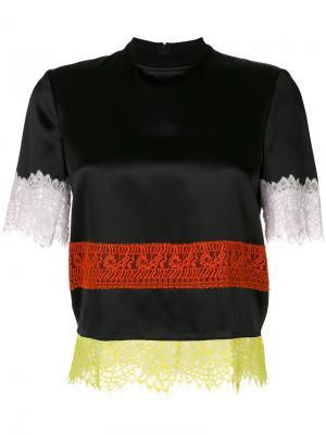 Топ с кружевной отделкой Givenchy. Цвет: чёрный
