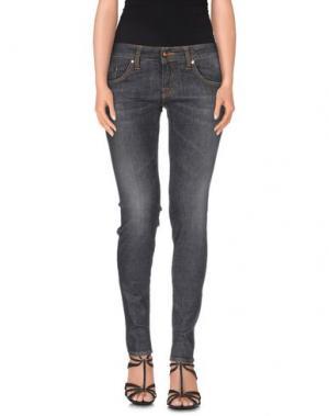 Джинсовые брюки (+) PEOPLE. Цвет: серый