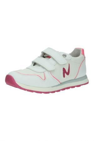 Кроссовки Naturino. Цвет: белый, розовый