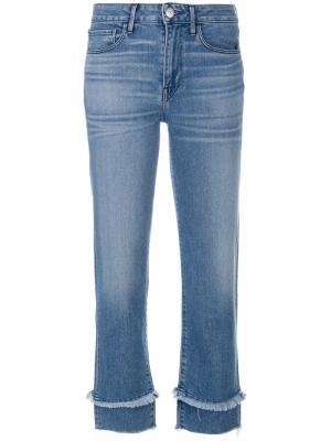 Укороченные джинсы 3X1. Цвет: синий