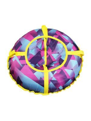 Санки надувные Ватрушка Метиз. Цвет: голубой, желтый, розовый