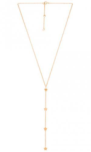 С камнем лариат star joolz by Martha Calvo. Цвет: металлический золотой