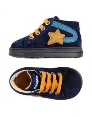 Полусапоги и высокие ботинки FALCOTTO. Цвет: темно-синий