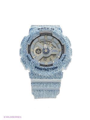 Часы Baby-G BA-110DC-2A3 CASIO. Цвет: голубой