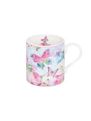 Кружка - подарок Летние бабочки Elan Gallery. Цвет: голубой, белый, розовый