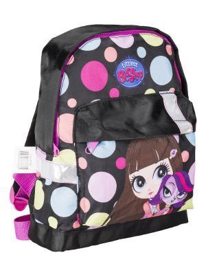 Рюкзак детский.Littlest Pet Shop Littlest. Цвет: голубой, желтый, розовый, черный