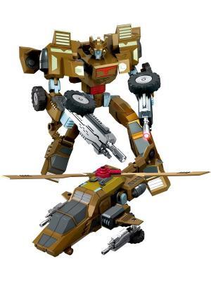 Робот, Трансформер Собирается в Вертолет XL Склад Уникальных Товаров. Цвет: бежевый