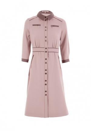 Платье LO. Цвет: бежевый