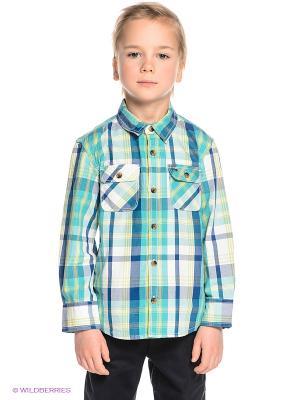 Рубашка Tommy Hilfiger. Цвет: бирюзовый
