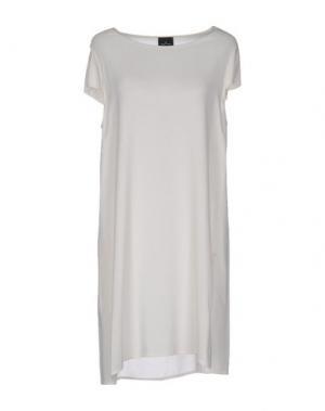 Короткое платье GOTHA. Цвет: слоновая кость