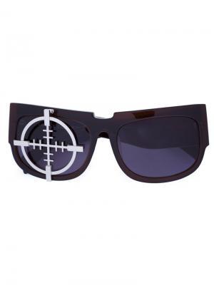 Солнцезащитные очки Target Xander Zhou. Цвет: коричневый