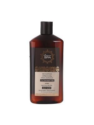 Шампунь Moroccan SPA для поврежденных волос с маслом марокканского аргана 500мл Shemen Amour. Цвет: оранжевый