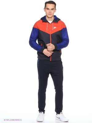 Ветровка M NSW WINDRUNNER Nike. Цвет: синий, красный