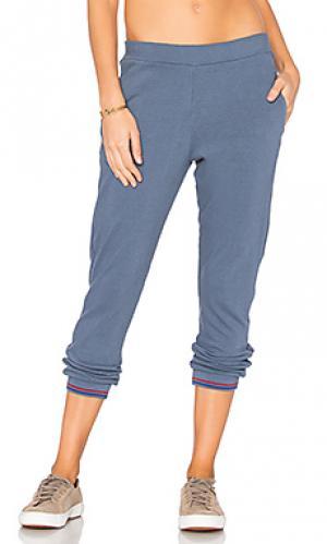 Спортивные брюки из джерси Stateside. Цвет: синий