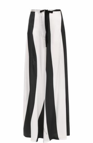 Шелковые широкие брюки в полоску Ann Demeulemeester. Цвет: черно-белый