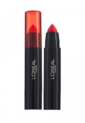 Бальзам для губ LOreal Paris L'Oreal. Цвет: красный