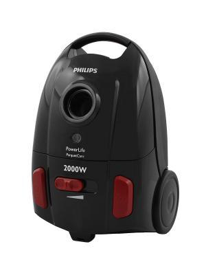 Мешковый пылесос Philips PowerLife FC8454/01. Цвет: черный, красный