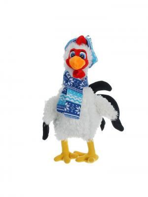 Мягкая игрушка Курочка в шапочке и шарфике, 36см А М Дизайн. Цвет: серебристый