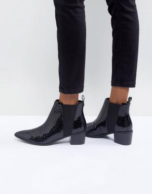 Miss KG Ботинки на каблуке. Цвет: черный