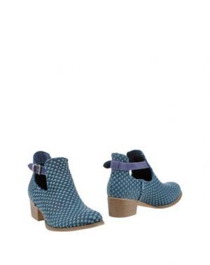 Полусапоги и высокие ботинки FABRIZIO CHINI. Цвет: темно-синий