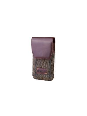 Чехол для телефона LONDON р97 твид/кожа коричневый INTERSTEP. Цвет: коричневый