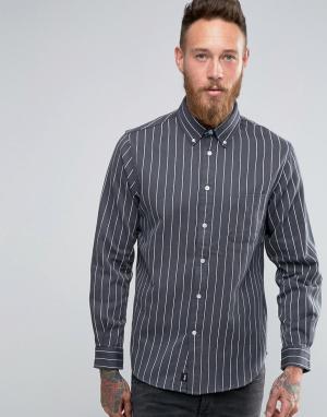 Edwin Рубашка в полоску. Цвет: серый
