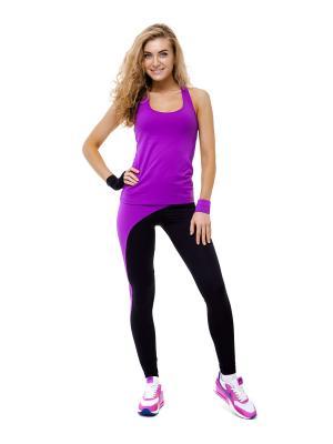 Лосины со вставкой на ноге Profit. Цвет: фиолетовый, черный