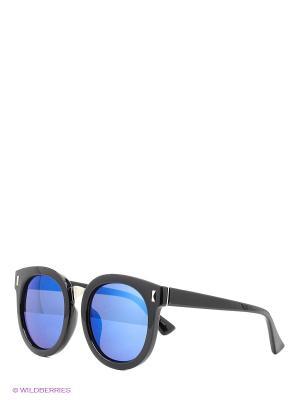 Очки Wide wrap (черная оправа синие линзы) Kawaii Factory. Цвет: черный