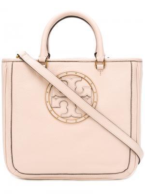 Декорированная сумка-сэтчел с логотипом Tory Burch. Цвет: розовый и фиолетовый