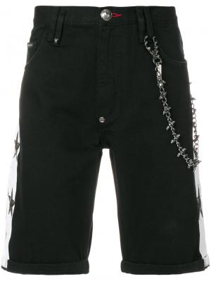Good Feeling Bermuda denim shorts Philipp Plein. Цвет: чёрный