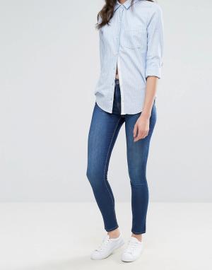 Waven Облегающие джинсы с классической талией Asa. Цвет: синий