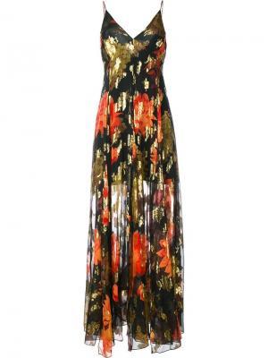 Длинное платье Michelle Haney. Цвет: многоцветный