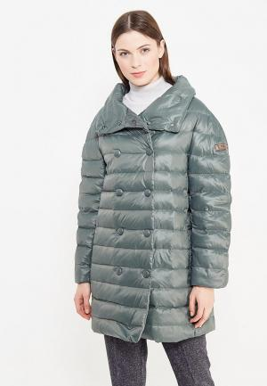 Куртка утепленная Trussardi Collection. Цвет: зеленый