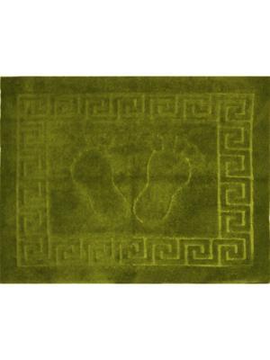 Коврик для ванной комнаты ЛЮКС  на резиновой основе 50х70 см Dorothy's Нome. Цвет: светло-зеленый