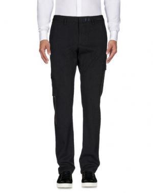 Повседневные брюки MONOCROM. Цвет: свинцово-серый