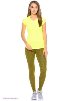 Леггинсы W NSW LEG-A-SEE LGGNG AOP Nike. Цвет: зеленый