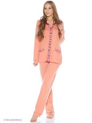 Пижама Jasmil. Цвет: персиковый