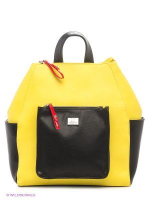 Рюкзак Sabellino. Цвет: черный, желтый