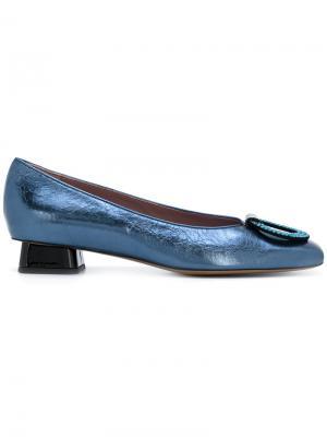 Декорированные туфли Rayne. Цвет: синий