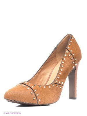 Туфли UNITED NUDE. Цвет: коричневый, золотистый