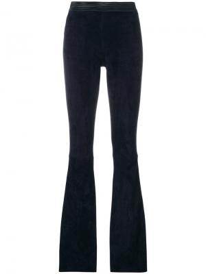 Расклешенные брюки скинни Drome. Цвет: синий