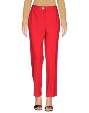 Повседневные брюки SALVATORE FERRAGAMO. Цвет: красный
