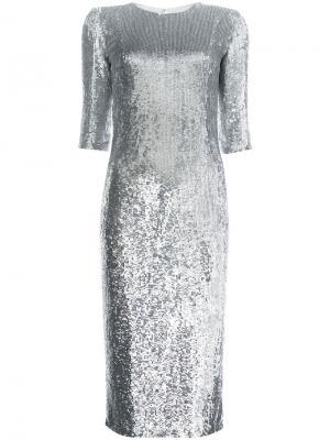Платье миди с пайетками Jeffrey Dodd. Цвет: серый
